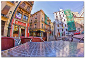 View of the streets in Valencia, Spain. — Stock Photo