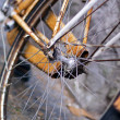 Close up of old part bicycle — Stock Photo