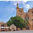 Lala Mustafa Pasha Mosque formerly St. Nicholas Cathedral in Famagusta — Stock Photo
