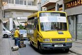 Yellow minibus — Stock Photo