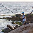 Ayia Napa men fishing — Foto Stock