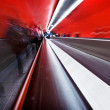 Passenger in the subway station, blurred motion. — Stock Photo