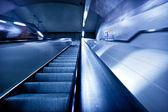 Pasażerów na stacji metra, zaburzenia ruchu. — Zdjęcie stockowe