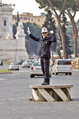 Traffic police officer in Rome, Italy — Stock Photo