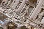 View of The Famous Trevi Fountain, rome, Italy. — Stock Photo