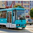 Stock Photo: Blue tramway