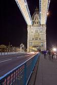 Tower Bridge London England with street traffic — Stock Photo