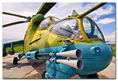 Belorussian army helicopter — Stockfoto
