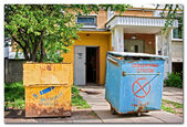 Bins for rubbish — Stock Photo