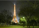 Eiffel tower at night — Stock Photo