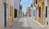 Street view in Tabarca, Alicante — Stockfoto