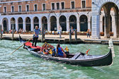 Gondola on the Grand Canal — Stock fotografie
