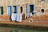 Laundry drying in the sun — Stock Photo