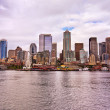 The Seattle downtown view from Ferry — Stock Photo