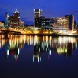 A Beautiful nightview of portland city — Stock Photo