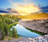 A Beautiful view from Obsidian Lava Flow Bend Oregon — Stock Photo