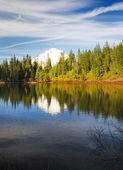 Un hermoso reflejo en el lago espejo — Foto de Stock
