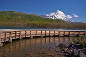 Weergave van koel water lake — Stockfoto