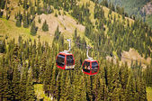 The Cable Car at Crystal Mountain — Stock Photo