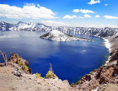 Bonito lago de cratera — Fotografia Stock