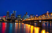 Portland city view in night time — Stock Photo
