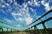 The St Jones bridges with beautiful clouds — Stock Photo