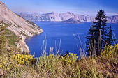Beautiful view of crater lake — Stock Photo