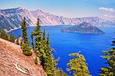 Beautiful view of crater lake — Stock Photo