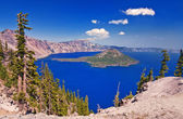 A beautiful view of crater lake — Stock Photo