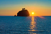 Rialto beach at Olympic national park in the Sunset — Stock Photo
