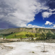 Stock Photo: Mountain at Mammoth Hot Springs
