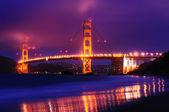 The golden gate bridge from Baker Beach — Stock Photo