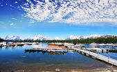 The Boats near Jackson Lake — Stock Photo