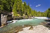 Hermosas cataratas en el Parque Nacional los glaciares — Foto de Stock