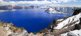 The deep blue beautiful crater lake — Stock Photo