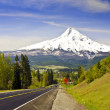 A beautiful mountain view from road — Stock Photo