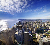A beautiful view of seattle downtown from columbia tower — Stock Photo