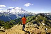 Mt Rainier from Dege Peak at 7006 Feet — Stock Photo