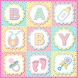 Baby Greeting Card — Stockvectorbeeld
