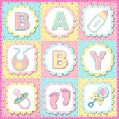 Baby Greeting Card — Stockvektor