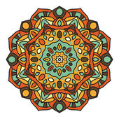 Mandala - Vector Circle Ornament, Design Element — Stock Vector