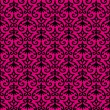 Seamless Pattern With Black Ornament On Pink Background — Stock Vector