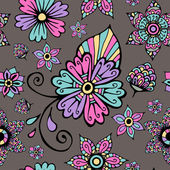 Seamless Pattern With Floral Ornament — Stock Vector