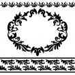 Set Of Vintage Design Elements - 2 Borders and Ornate Frame — Stock Vector #30148425