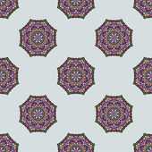 Seamless Pattern With Circle Ethnic Ornament — Cтоковый вектор
