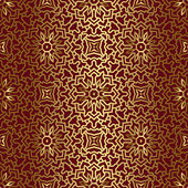 Seamless Pattern With Gold Ornament. 3D Effect — Stock Vector