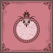 Vector Vintage Greating Card With Frame For Your Text — Stock Vector