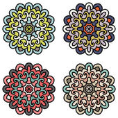 Set Of Ethnic Ornaments For Design. Mandala - Vector Circle Orna — Stock Vector
