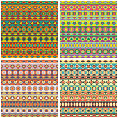 Set Of Ethnic Patterns For Design — Stock Vector