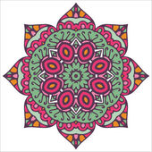 Mandala. Vector Circle Ornament, Design Element — Stock Vector